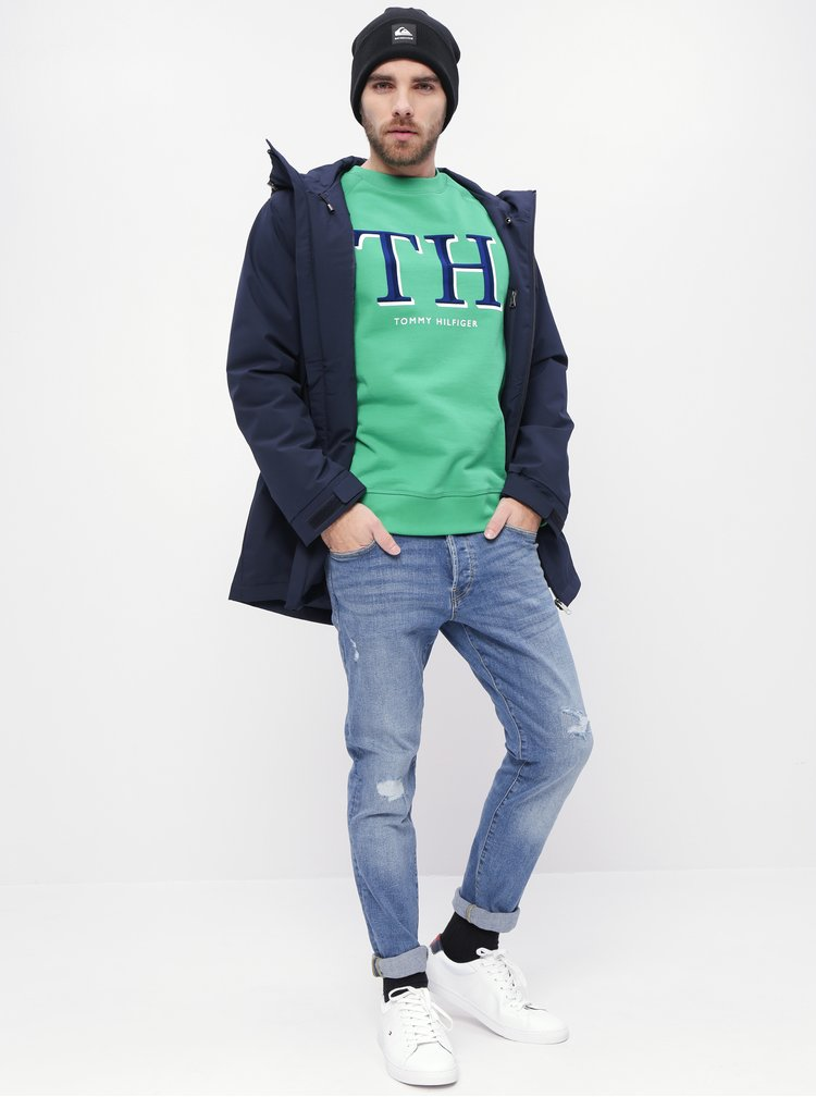 Zelená pánská mikina Tommy Hilfiger Monogram