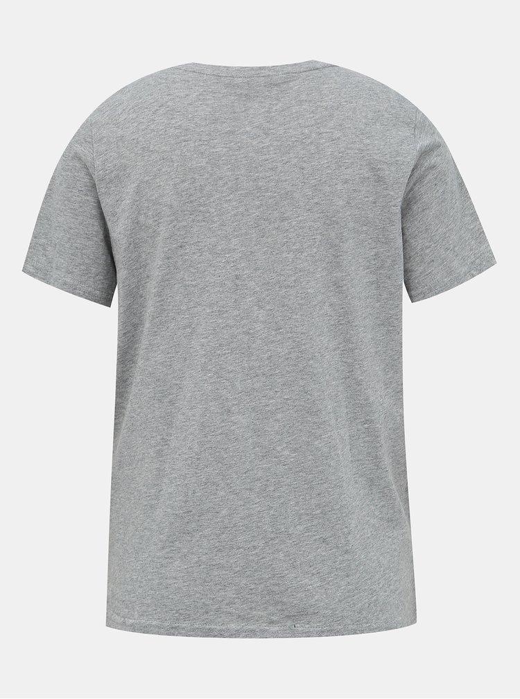 Šedé tričko VERO MODA Flameolly