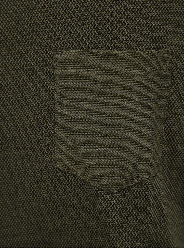 Khaki pánské vzorované tričko Tom Tailor Denim