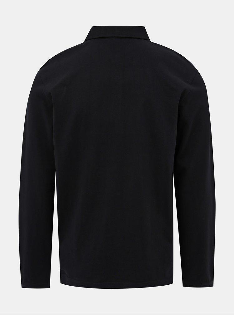 Černé basic polo tričko Lindbergh