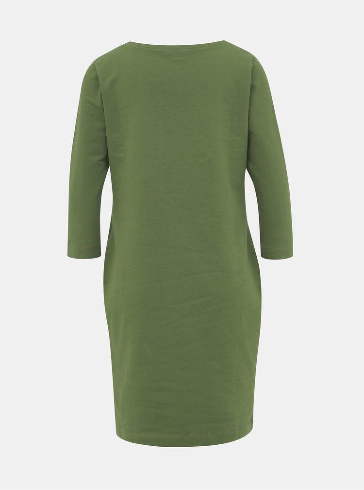 Zelené mikinové basic šaty ZOOT LOLA
