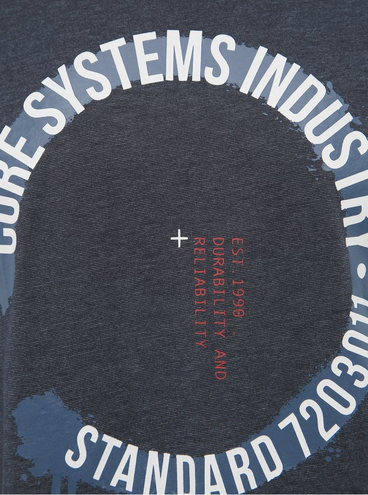 Tmavomodré tričko Jack & Jones Skate