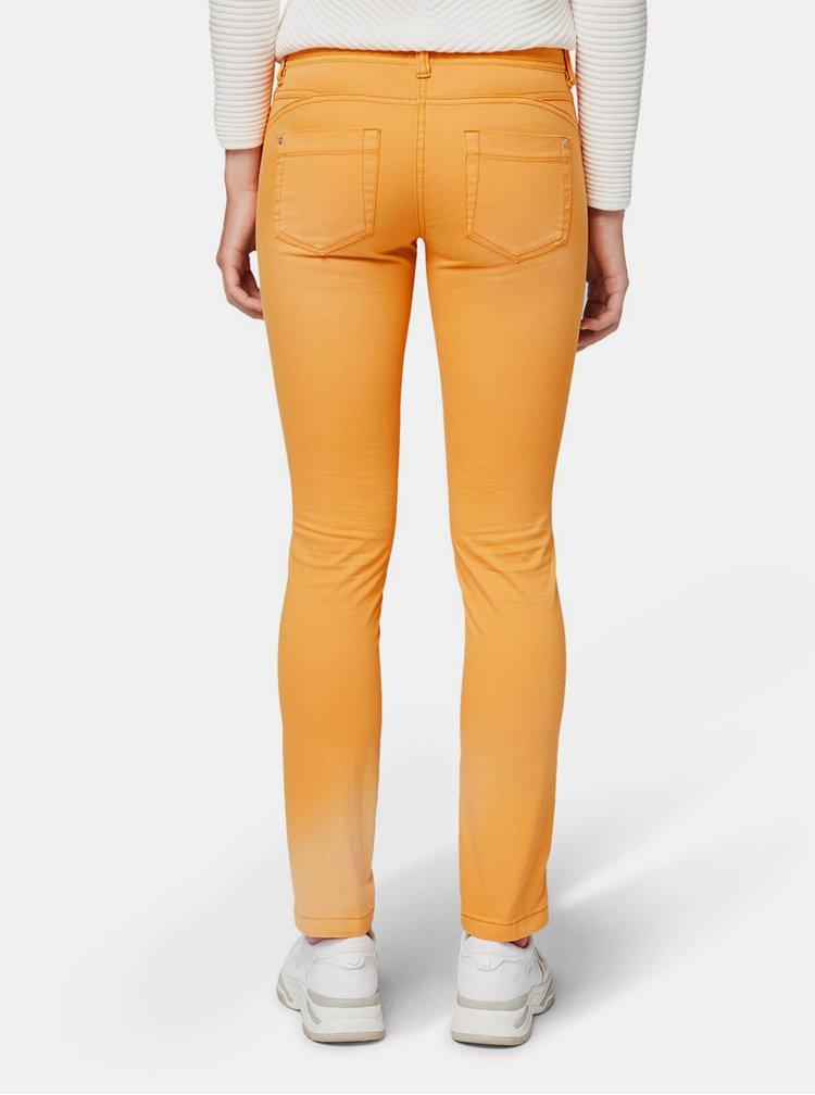 Oranžové dámské slim fit džíny Tom Tailor