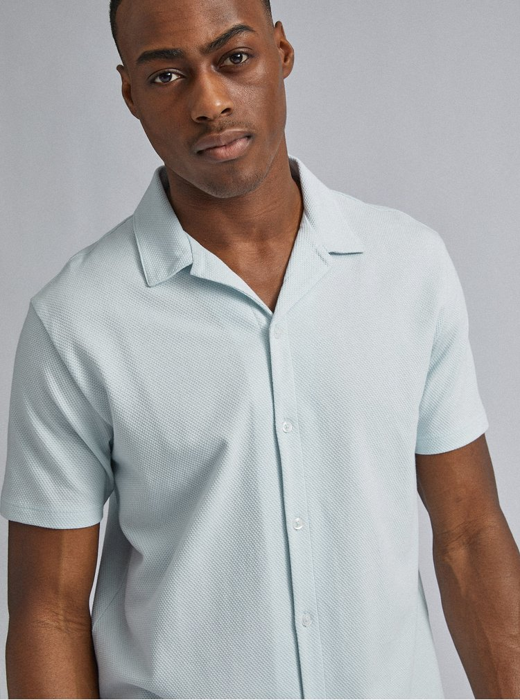Světle modrá košile Burton Menswear London Riviera