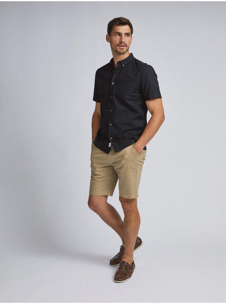 Černá košile Burton Menswear London Boxy