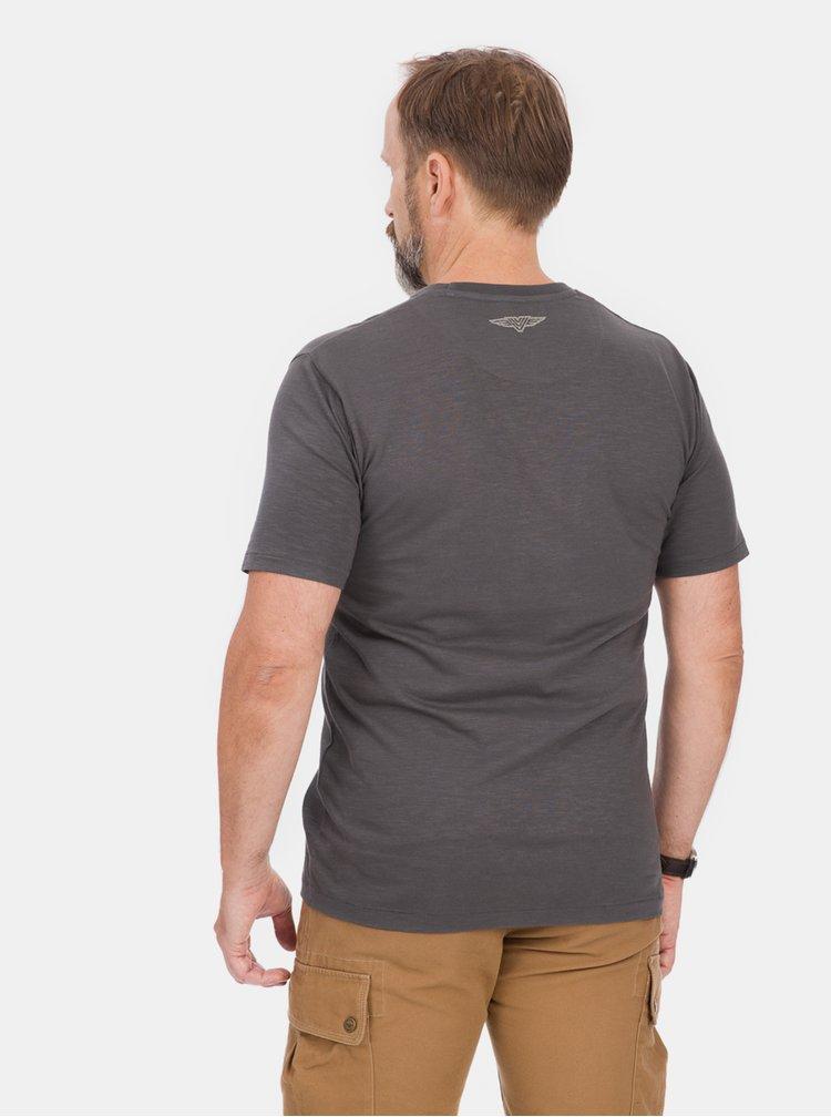 Tmavě šedé pánské tričko BUSHMAN Lisbon