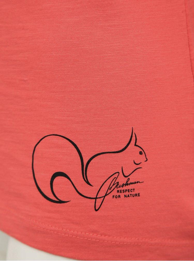Korálové dámské tričko BUSHMAN Oraibi