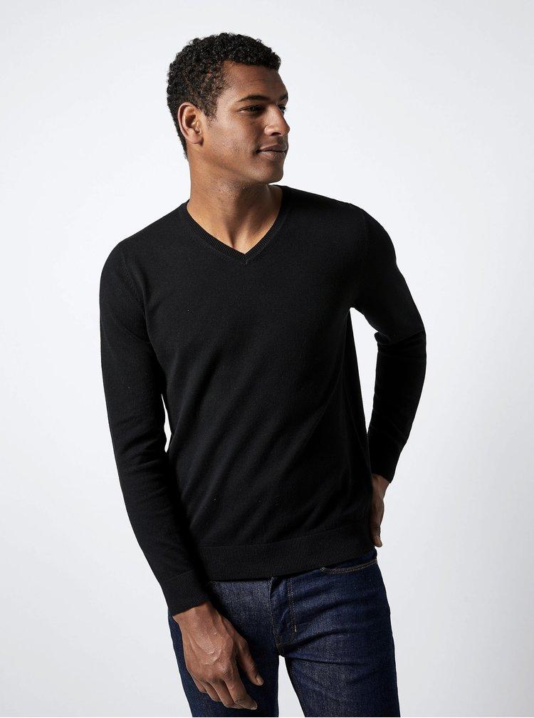 Černý basic svetr Burton Menswear London