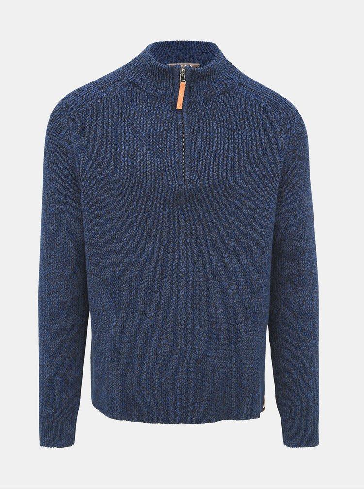 Tmavě modrý pánský svetr BUSHMAN Forsyth