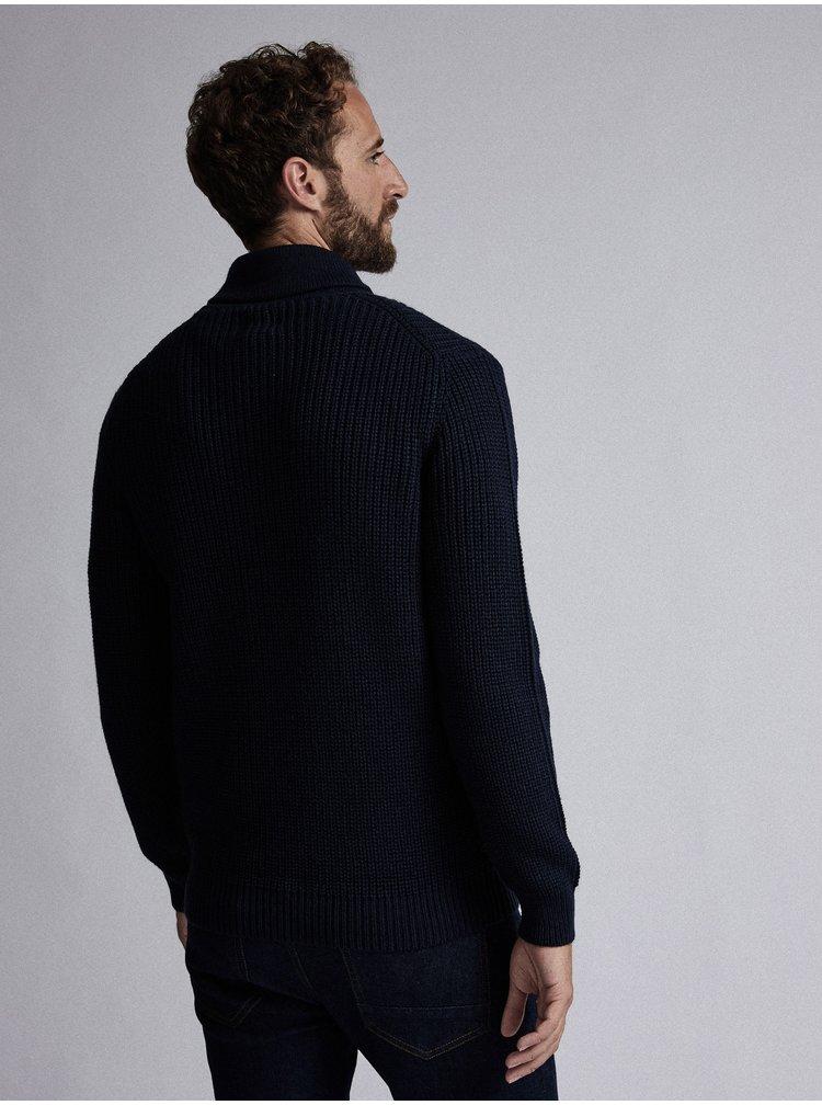 Tmavomodrý sveter s prímesou vlny Burton Menswear London