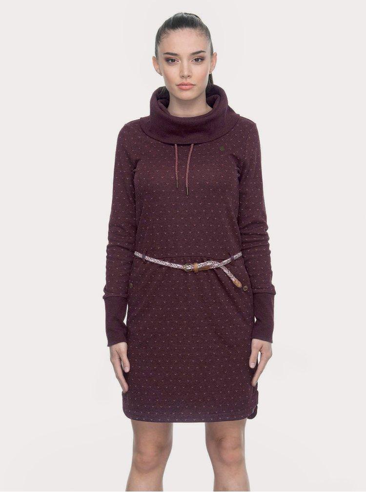 Fialové vzorované mikinové šaty Ragwear Laura B