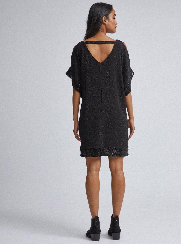 Černé třpytivé šaty Billie & Blossom Petite