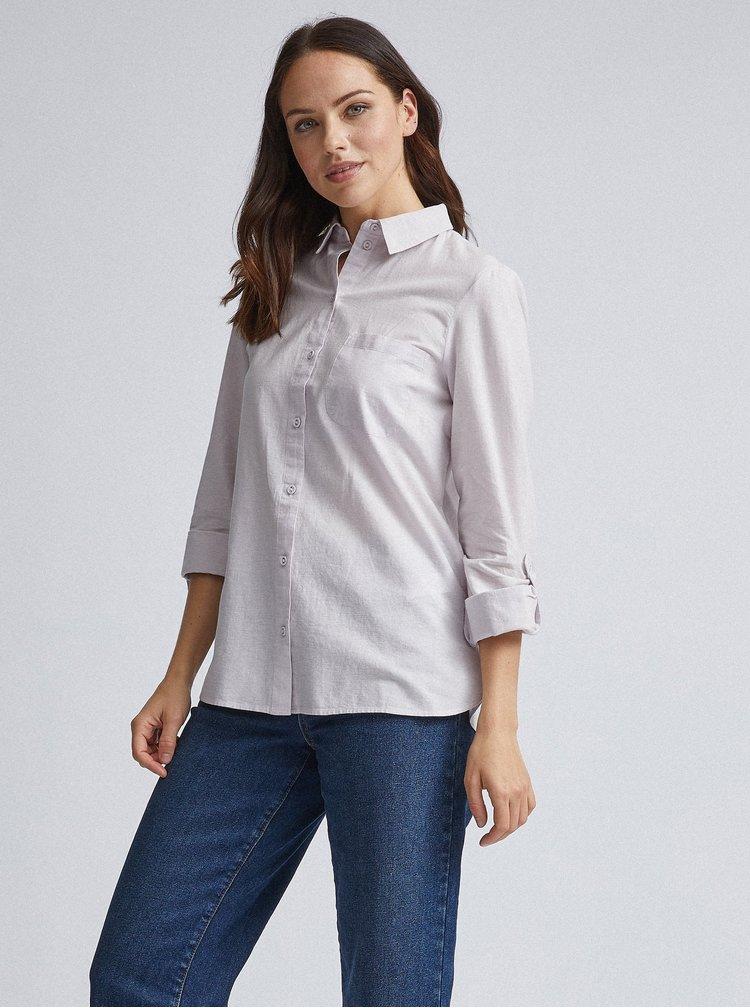Světle fialová košeľa Dorothy Perkins