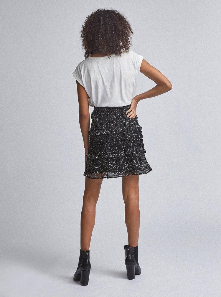 Černá vzorovaná sukně s volány Dorothy Perkins