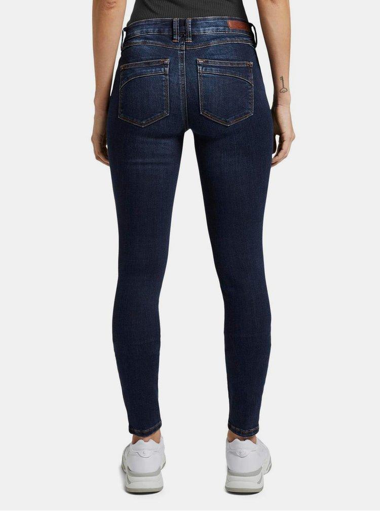 Skinny fit pentru femei Tom Tailor Denim - albastru inchis