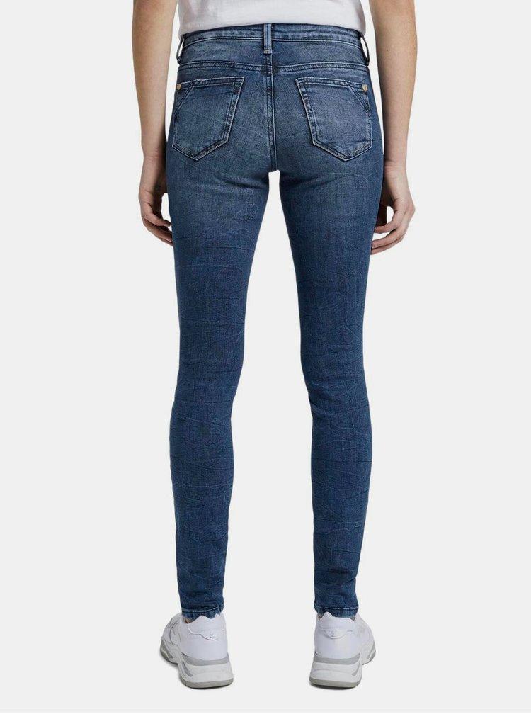 Modré dámské skinny fit džíny Tom Tailor