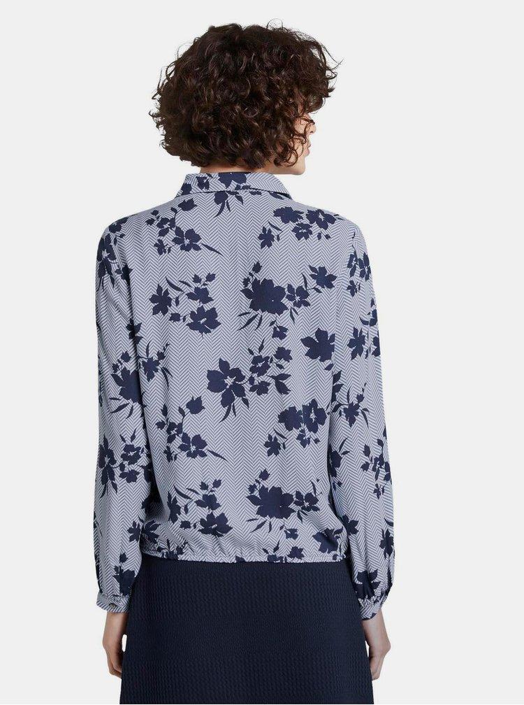 Modrá dámská květovaná halenka Tom Tailor