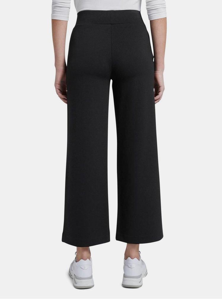 Černé dámské široké kalhoty Tom Tailor