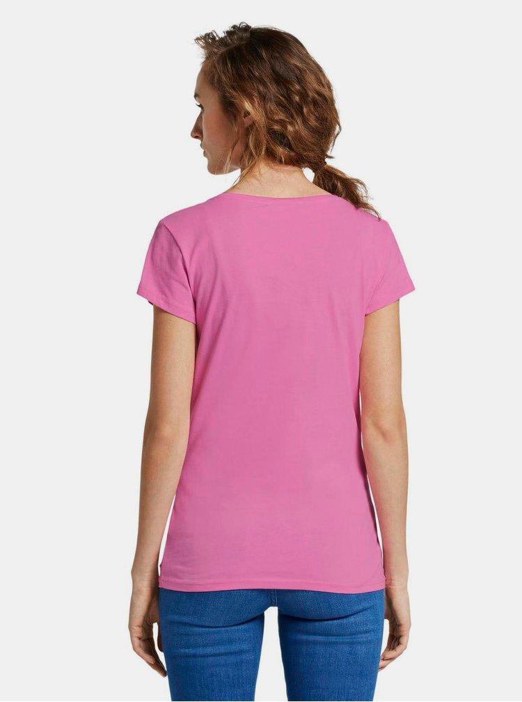 Růžové dámské tričko Tom Tailor Denim