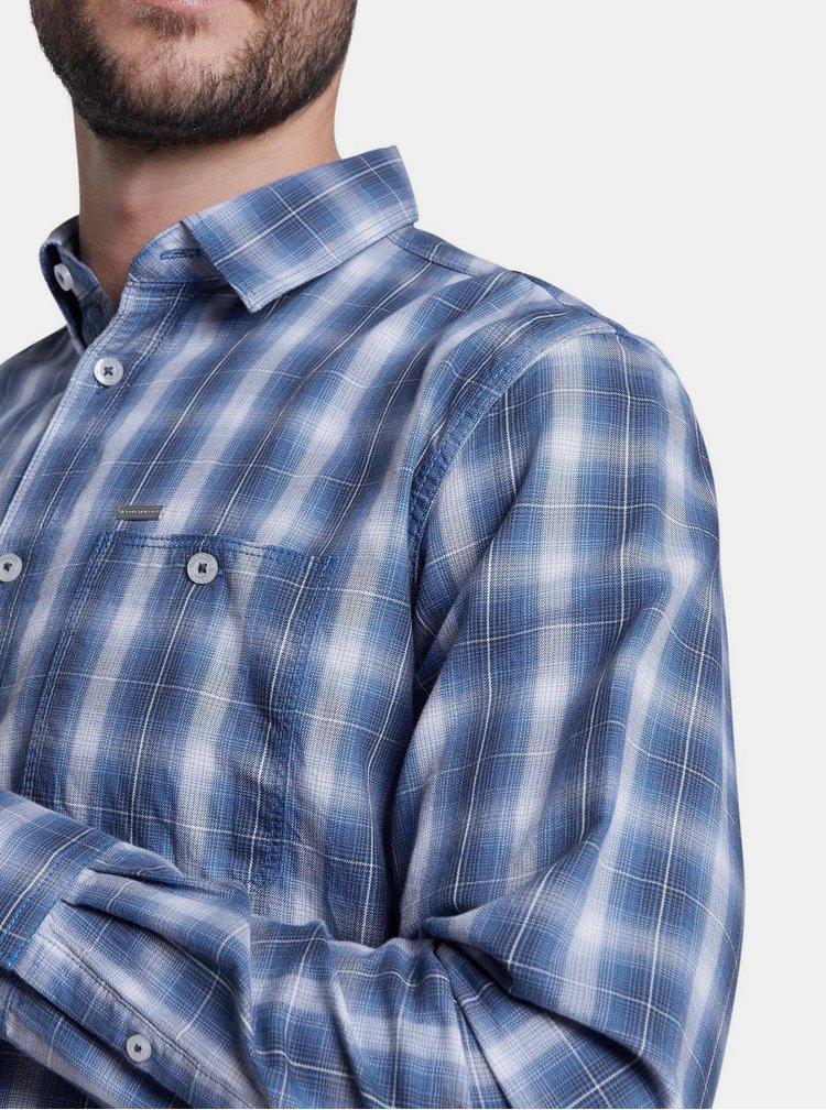 Modrá pánska kockovaná košeľa Tom Tailor