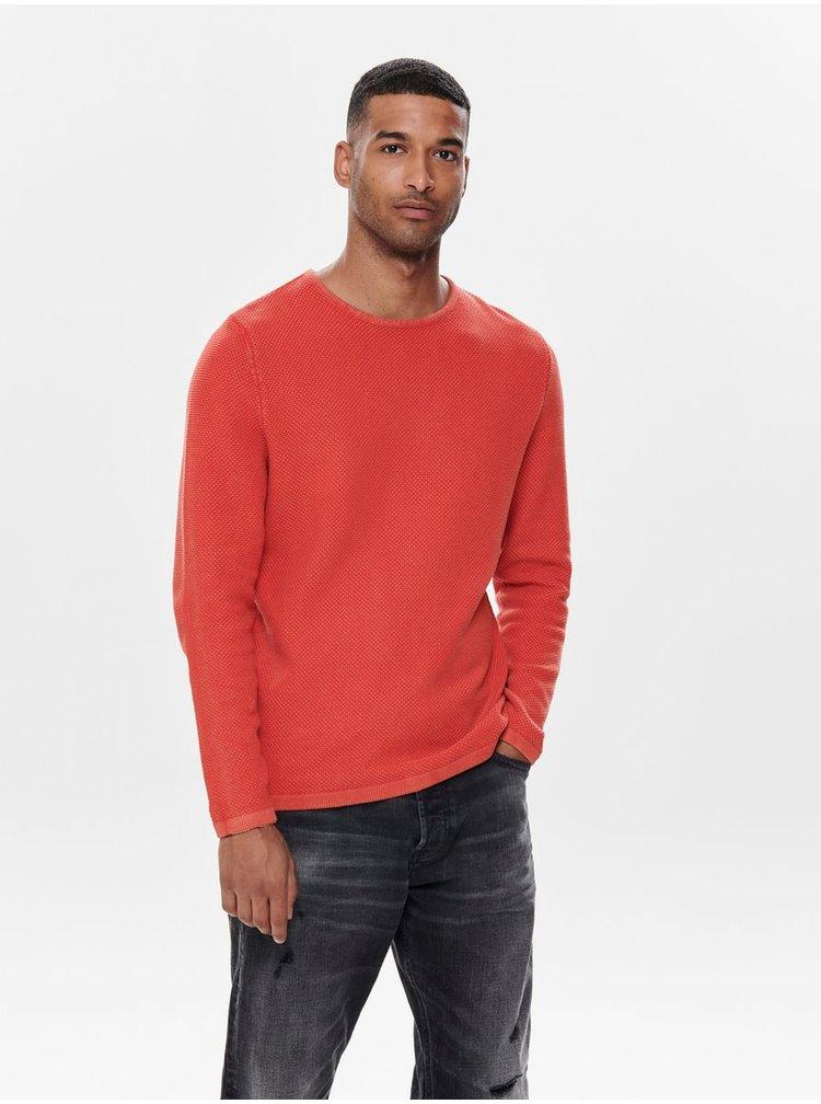 Červený svetr ONLY & SONS Hugh