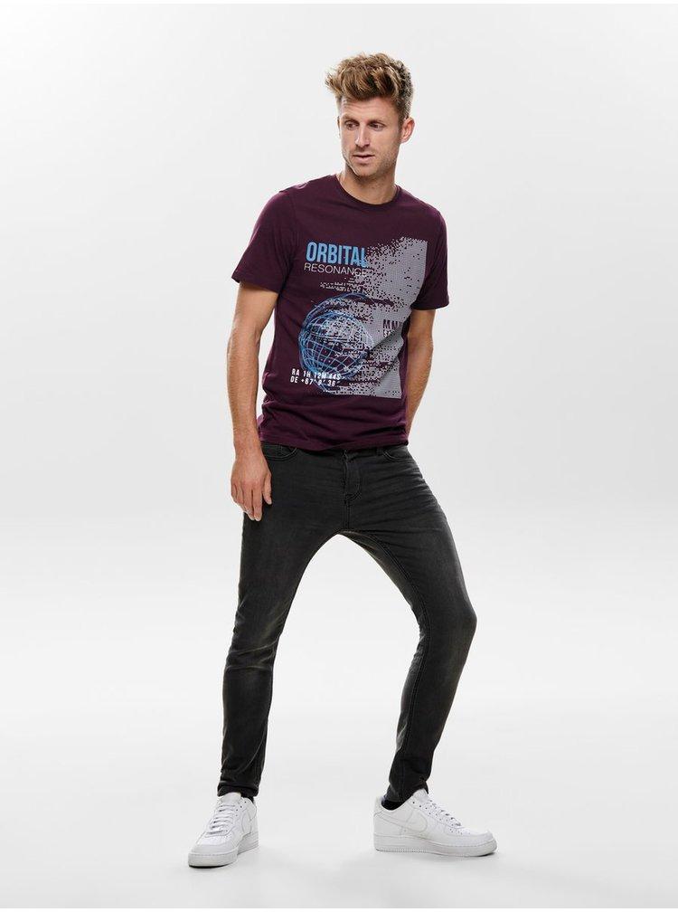 Tmavě šedé slim fit džíny ONLY & SONS Loom