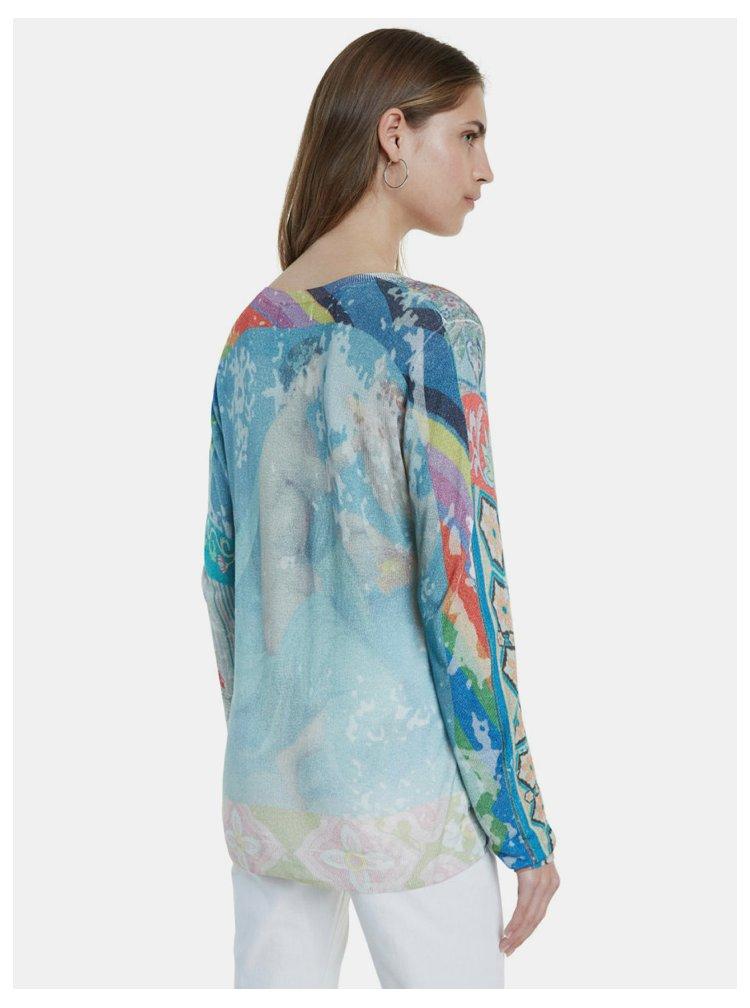 Svetlozelené vzorované tričko Desigual