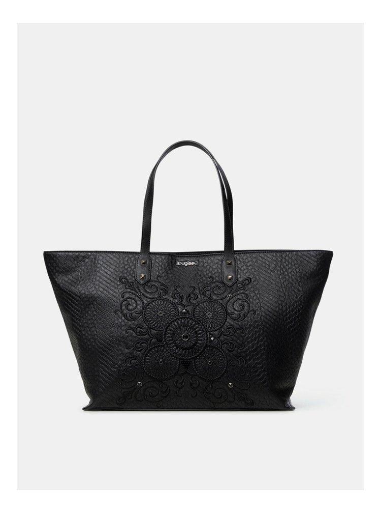 Černá vzorovaná kabelka Desigual