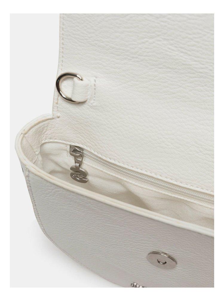 Bílá vzorovaná ledvinka/crossbody kabelka Desigual