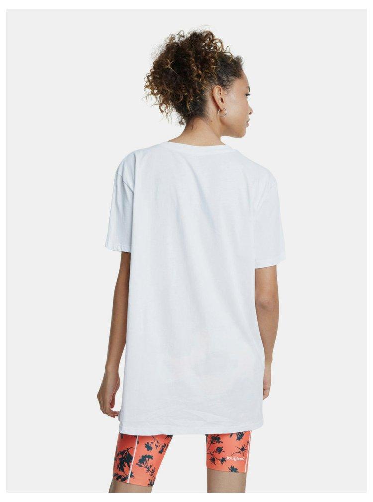 Bílé oversize tričko Desigual