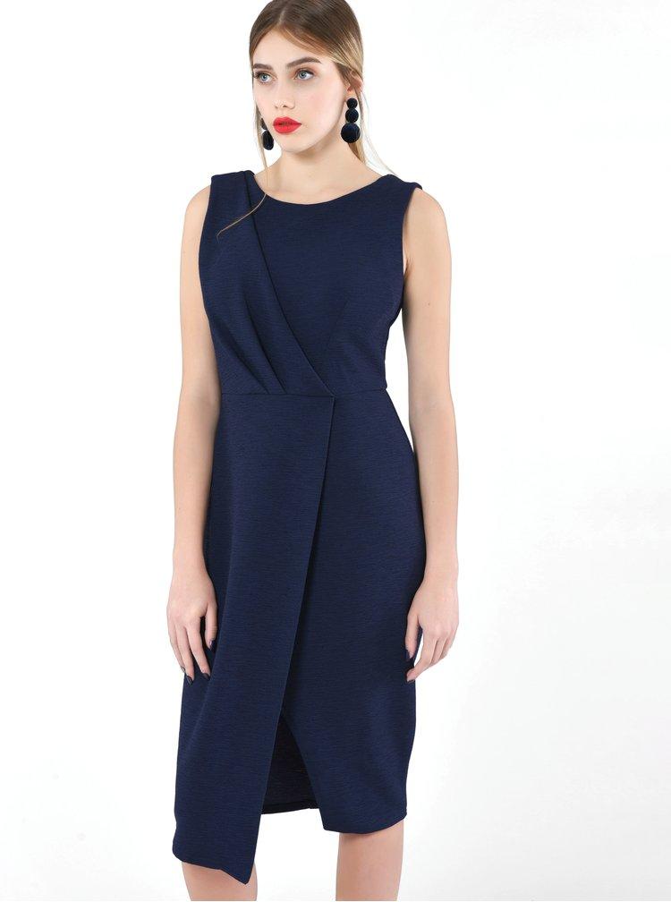 Tmavě modré pouzdrové šaty Closet