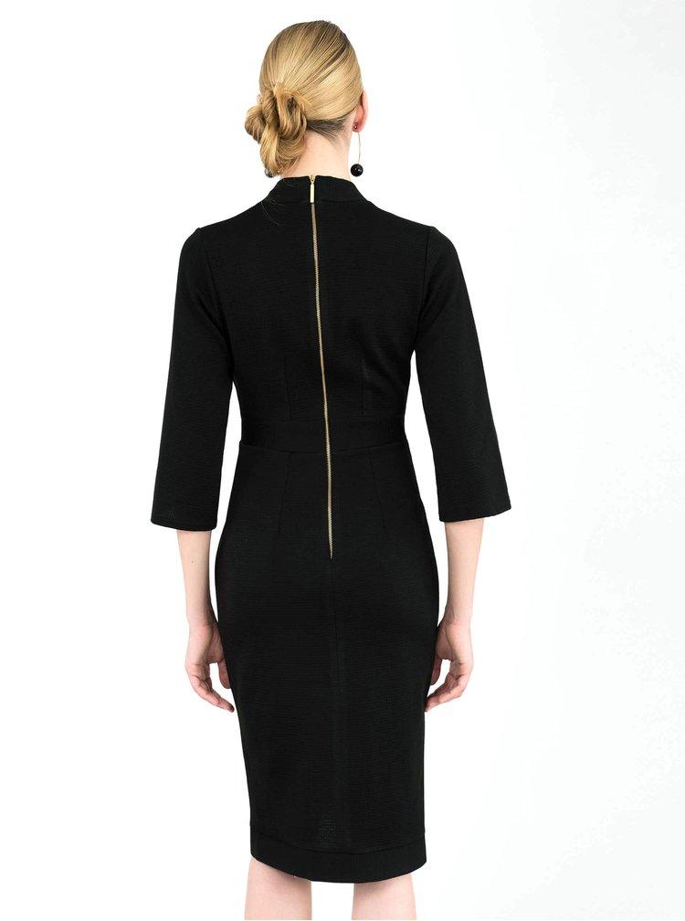 Černé pouzdrové šaty Closet