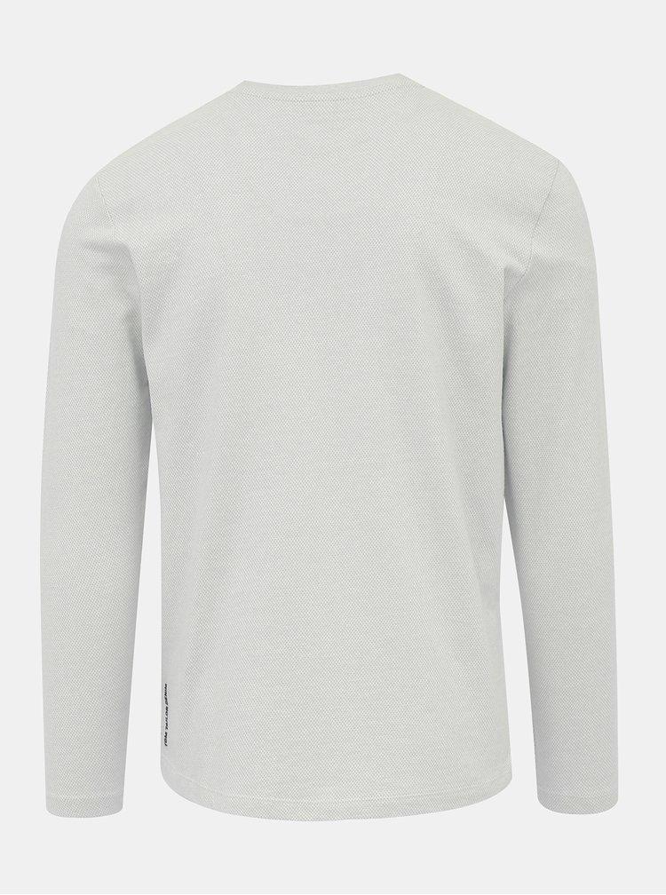 Světle šedé pánské vzorované tričko Tom Tailor Denim