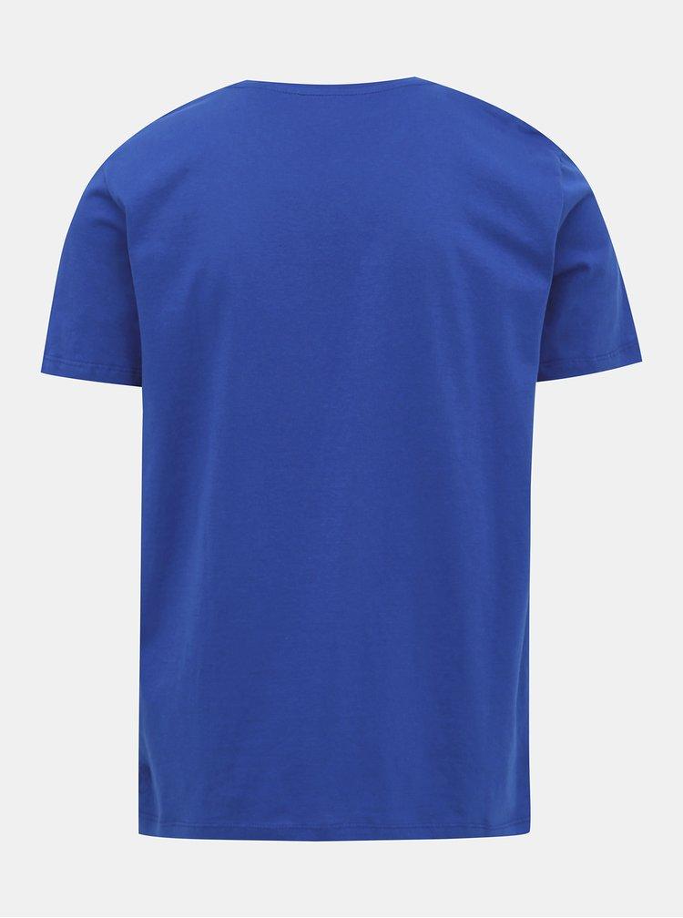 Tmavě modré pánské tričko s potiskem Tom Tailor Denim