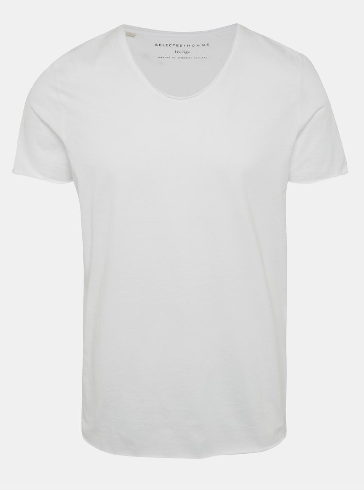 Tricou basic alb din bumbac - Selected Homme Newmere