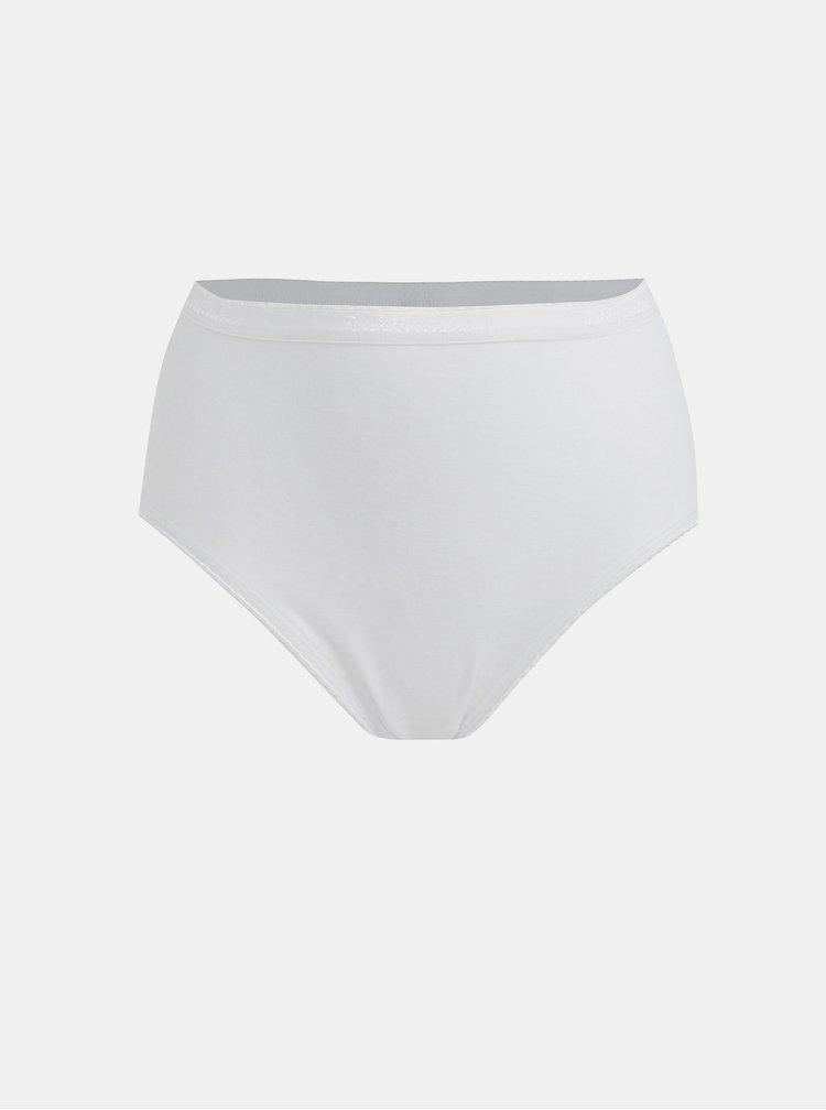Súprava dvoch nohavičiek s vysokým sedom v bielej farbe Bellinda