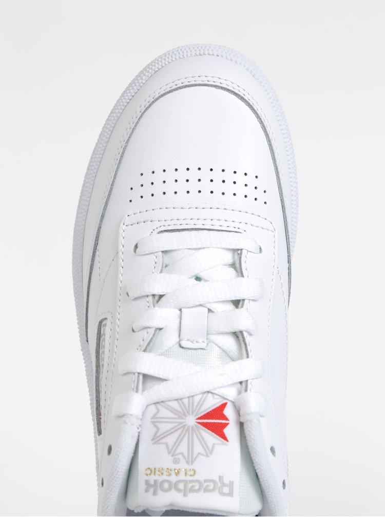 Bílé dámské kožené tenisky Reebok Club 85
