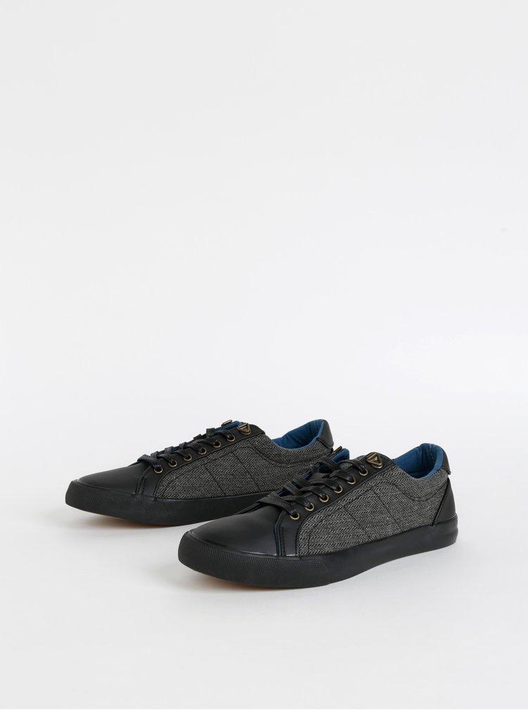 Černo-šedé pánské tenisky Burton Menswear London Warren