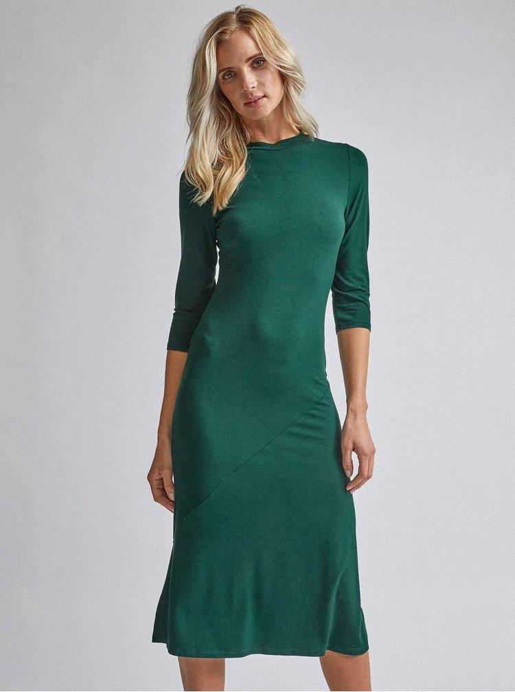 Tmavě zelené midišaty Dorothy Perkins