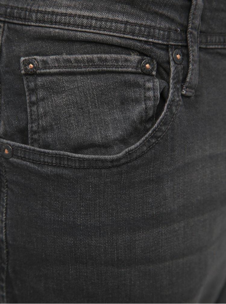 Tmavě šedé slim fit džíny Jack & Jones Glenn