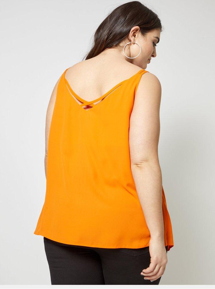 Oranžový top s pásky na zádech Dorothy Perkins Curve
