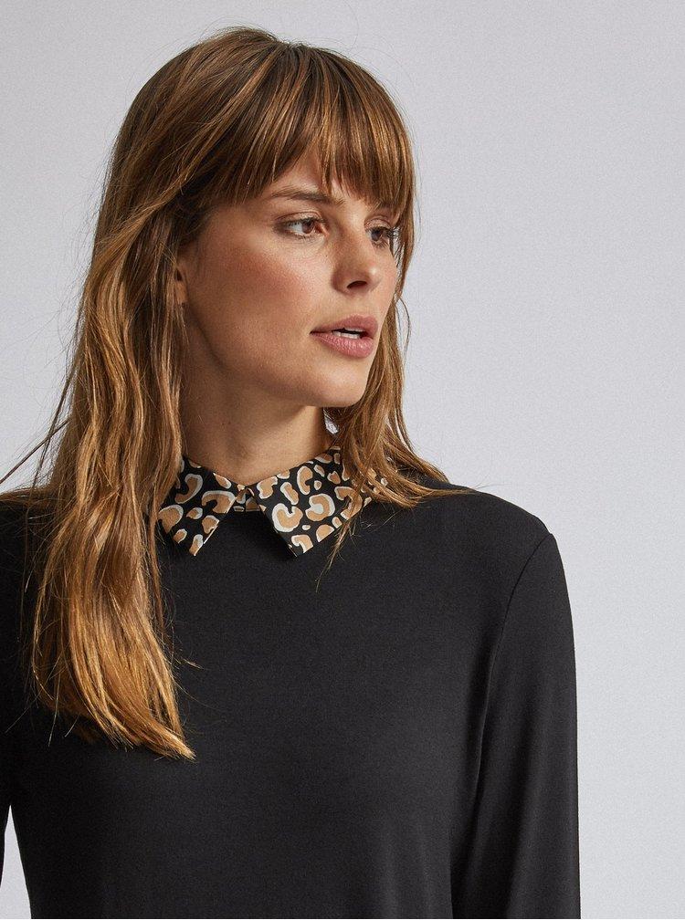 Čierna blúzka s leopardím vzorom Dorothy Perkins