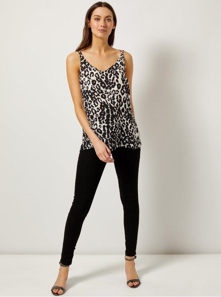 Bílo-černý top s leopardím vzorem Dorothy Perkins