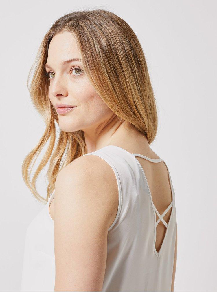 Bílý top s průstřihem na zádech Dorothy Perkins