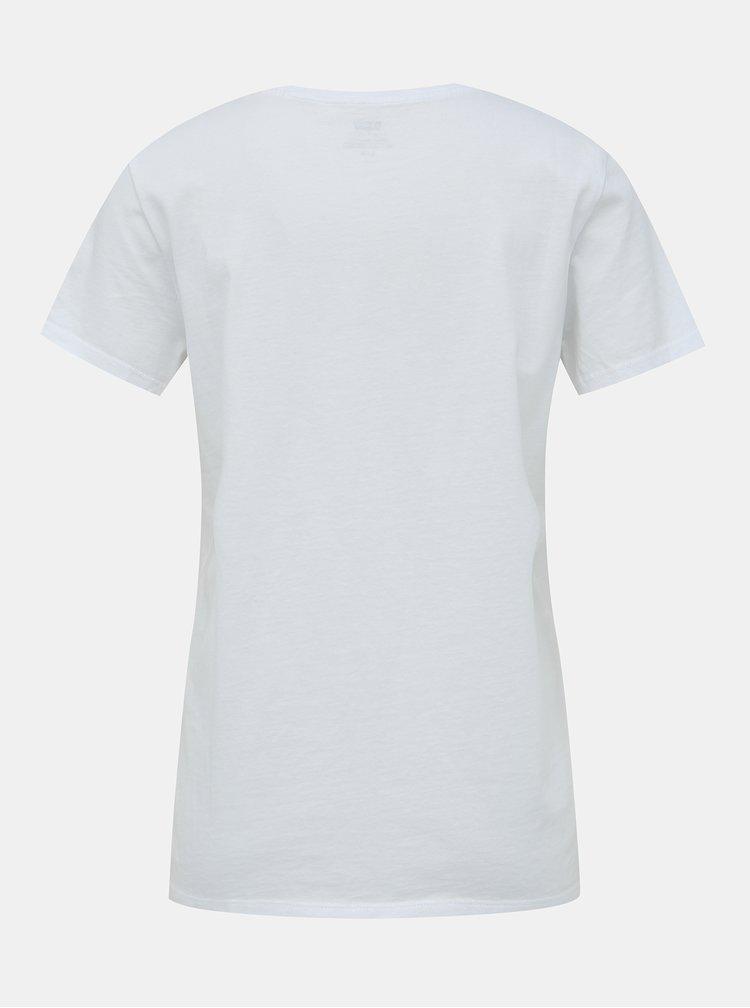 Bílé dámské tričko s potiskem Levi's