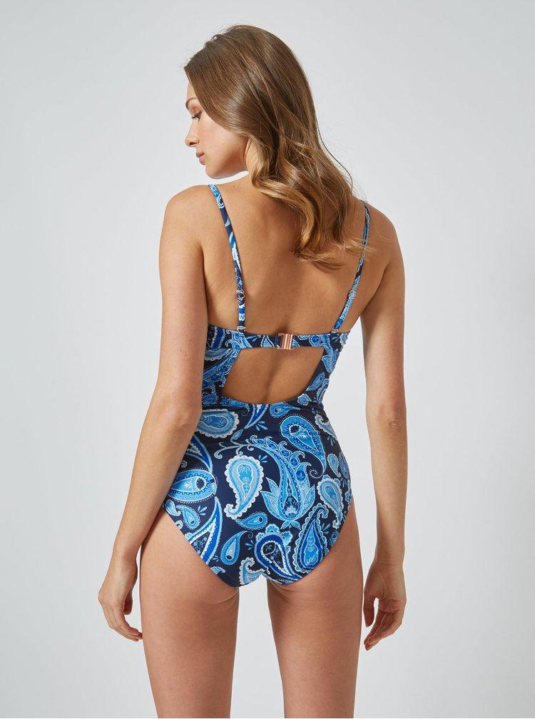 Modré vzorované jednodielne plavky Dorothy Perkins
