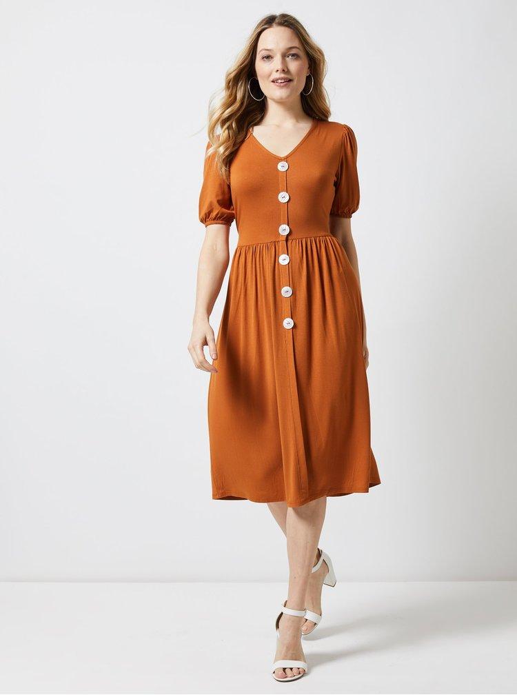 Hnědé šaty Dorothy Perkins