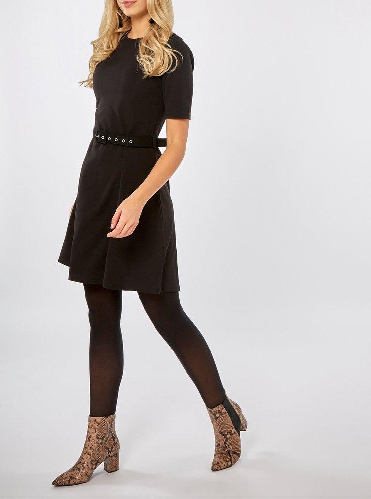 Černé šaty s páskem Dorothy Perkins