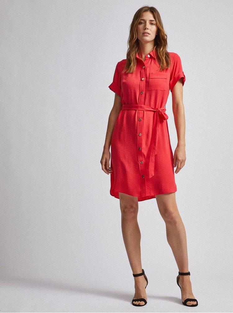 Růžové košilové šaty Dorothy Perkins