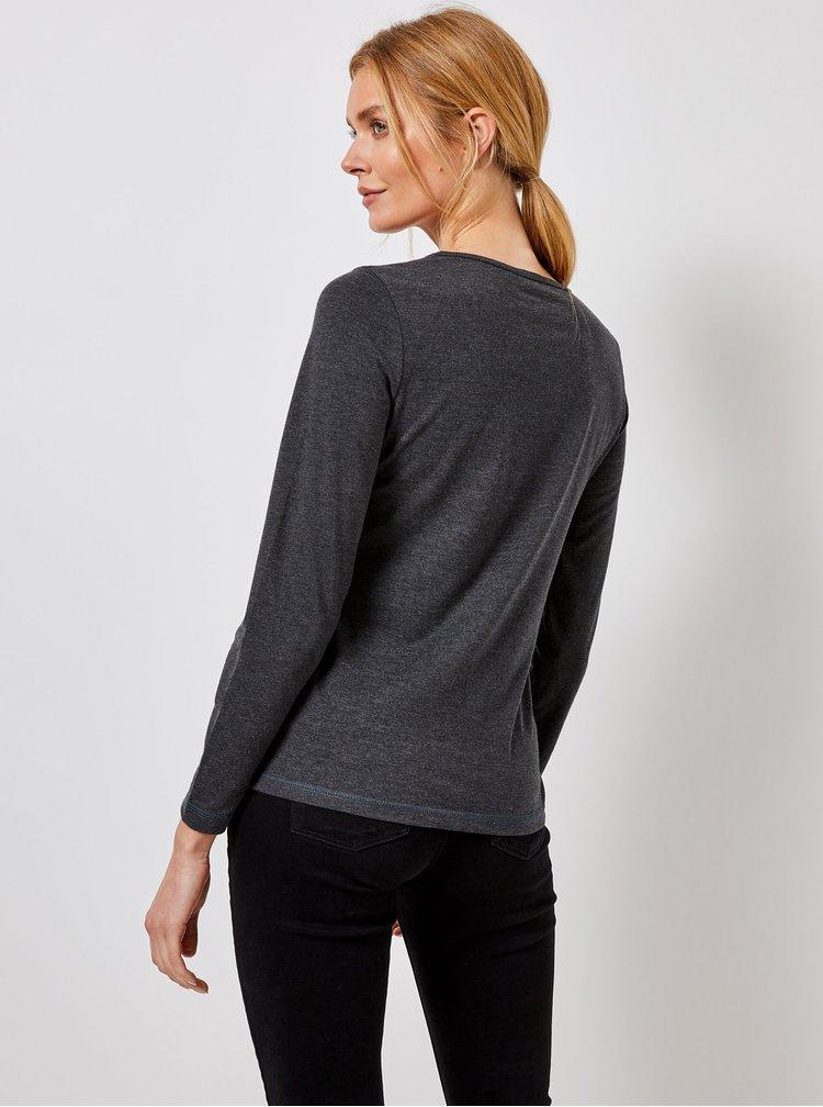 Tmavě šedé basic tričko Dorothy Perkins